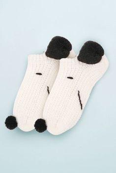 472a0433da White Snoopy Bed Socks One Pack Bed Socks, Christmas 2017, Hosiery, Slippers ,