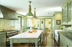 green kitchen #green #kitchen #interior