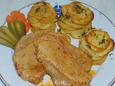 Rozi erdélyi,székely konyhája: Fokhagymás sertéssült, leveles krumplival
