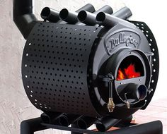 Bullerjan Free Flow hot air furnace provides tremendous heat.