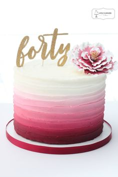 Forty Cake Topper Cut Files - Jasey's Crazy Daisy - - Looking for the perfect touch for that birhtday cake? Use these Forty Cake Topper Cut Files to create your own gorgeous cake toppers. Elegant Birthday Cakes, Birthday Cake For Women Elegant, Small Birthday Cakes, Pretty Birthday Cakes, 60th Birthday Cakes, Birthday Cakes For Women, 30th Birthday Cake For Her, Birthday Cake Designs, Elegant Cakes