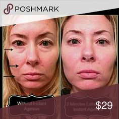 GLOW and LOOK YEARS YOUNGER this holiday season This will Instantly refresh you and take years Off your appearance.  That's. Me your Posher in the second and third pix.  I'll be 44 in December.  I have never found a product that works like this.  Get a package of both the Stem cell serum and Instantly Ageless. One vial of Instantly Ageless and one sachet of IA and one Stem cell serum.  $28 Makeup Face Powder