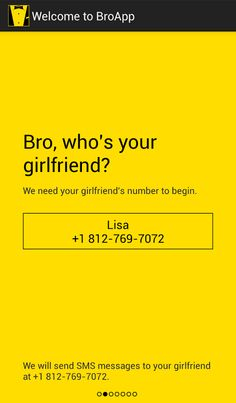 Hey guys: your wing man is here with BroApp!