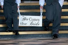 adorable sign for the flower girl/ring bearer to carry.