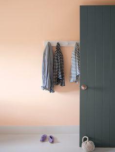 Benjamin Moore Peach Parfait Studion Paint Colors Wall Room