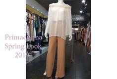 Φαρδιά μπλούζα με μπεζ παντελόνα Spring Looks, Suits, Fashion, Moda, Fashion Styles, Suit, Wedding Suits, Fashion Illustrations