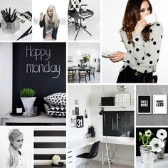 Everyone knows how much I love black and white decor