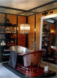 Kips Bay: Men's Retreat - Bathroom - Copper Tub