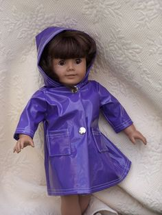 Rain coat with hood by ritassewing on Etsy, $14.00