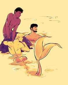 What is with the one merman's buns sticking out of the water? Male Mermaid, Siren Mermaid, Mermaid Art, Fantasy Creatures, Mythical Creatures, Bioshock, Mermaid Illustration, Illustration Art, Mermaid Drawings
