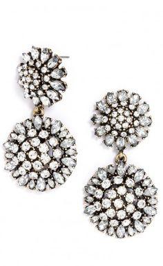 Dandelion crystal earrings