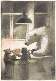 littlechien:  littlechien via illustration-ilustracion #illustration-ilustracion:  Okada Chiaki #bears #cutebears