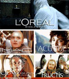 LOTR beauty commercials