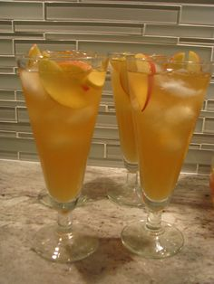 Apple cider sangria.  Great fall cocktail that can be made in advance by the pitcher.