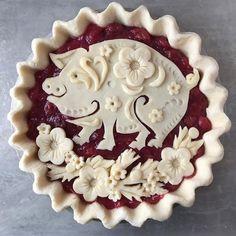 Vanille Buttercreme - Crust-Haves - Pie Inspiration - Torten Pie Crust Recipes, Frosting Recipes, Crusting Buttercream Recipe, Creative Pie Crust, Beautiful Pie Crusts, Pie Crust Designs, Pie Decoration, Pies Art, Pastry Art