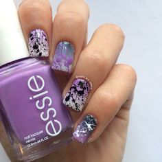 Ombre splatter nails!