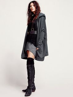 Free People Oversized Zip Hoodie at Free People Clothing Boutique