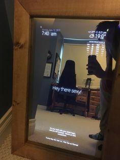 magic mirror hallway dashboard full build elektro. Black Bedroom Furniture Sets. Home Design Ideas