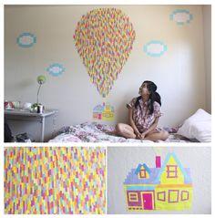 Up bedroom mural!