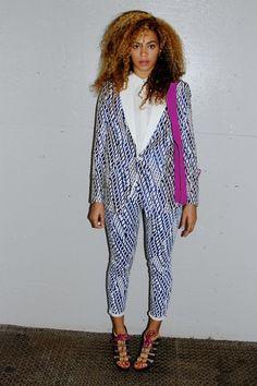 blue blouse pants beyoncé jacket pattern