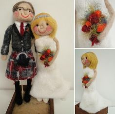 Personalised wedding mascots by red cat handmade