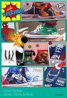 11255a76c1 Hand Painted Shoes Superman Hulk Spiderman Batman Hand Painted Tshirts  Spiderman Wolverine Iron Man Hand Made Shot Glasses Superhero