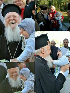 Making friends with Patriarch Bartholomew. Christian Families, Christian Faith, Picture Icon, Bless The Child, Christian Religions, Orthodox Christianity, Eucharist, Aging Gracefully, Roman Catholic