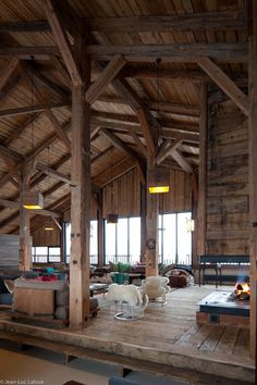 structured interior. timber frame