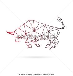 Bull abstract isolated on a white background