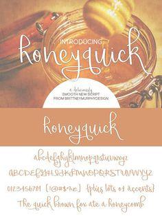 Honeyquick. Script Fonts. $5.00