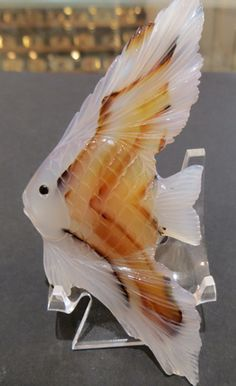 Carved Fish Montana Agate