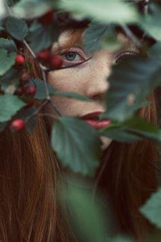 detras de las hojas