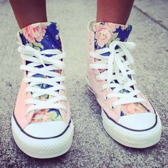 Floral Converse by UrbanEclectics on Etsy, $100.00