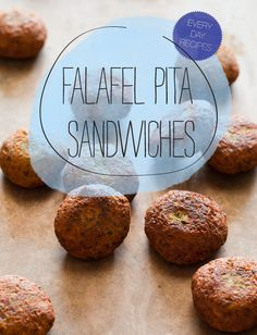 FALAFEL is a deep fried ball or patty that is made from chickpeas or fava beans and spices...can be served w/many types of sauces including tahini or a falafel hot sauce...can be served alone or as a falafel pita-RECIPES FOLLOW