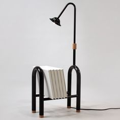 Icelandic designer Katrin Olina has created a set of home products made by shaping steel tubes with an old exhaust-pipe bending machine Funky Furniture, Design Furniture, Sofa Furniture, Pipe Furniture, Office Interior Design, Office Interiors, Interior Inspiration, Design Inspiration, Lamp Design