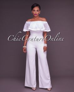 Chic Couture Online - Clarisse Off-White Embroidery Ruffle Top Strapless Jumpsuit,  (http://www.chiccoutureonline.com/clarisse-off-white-embroidery-ruffle-top-strapless-jumpsuit/)
