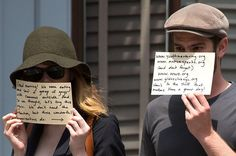 Andrew Garfield And Emma Stone Send Another Message To The Paparazzi, This is totally awesome! good for them really!