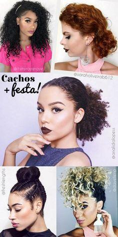 Penteados para cabelos cacheados para casamento para festa - cabelos naturais crespos e ondulados - curly hairstyles - ohlollas