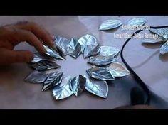 # DIY Como hacer una rosa con latas de refresco # DIY How to make a rose with soda cans - YouTube
