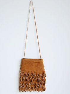 looped leather fringe purse