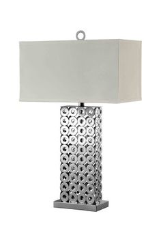 Circle Chrome Finish Accent Lamp by Urban Glam on @HauteLook
