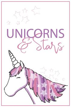 Does your child love unicorns? What about a purple and pink unicorn? Or a unicorn with stars? This lovely animal has all of these attributes!