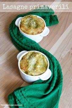 Lasagne primaverili al ragù di latte, basilico e salsiccia