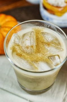 Pumpkin Spice White Russians - Add a scrumptious seasonal twist to your cocktail line-up ... perfect for fall sipping.   www.thekitchenismyplayground.com #cocktail