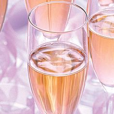Serve your champagne on pretty trays...it's a detail many don't think to about.