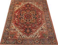 Antique Heriz Carpet | London House Rugs #tribalrug #rugdesign #rug