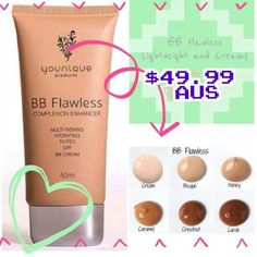 Our Wonderful BB Flawless Cream, does what it says!  enhances your complexion