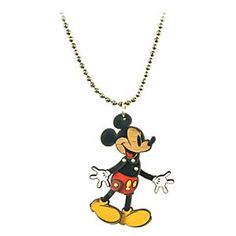 Mickey Mouse Necklace for Disney Couture | Disney StoreMickey Mouse Necklace for Disney Couture - The Dr X factor. Mickey is all smiles as he is given a designer makeover by Dr Romanelli for Disney Couture. Mickey's arms and legs move on this vintage-styled wooden necklace that blends contemporary styling with Mickey's enduring appeal.