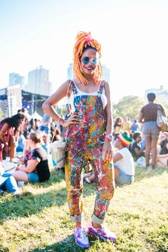 Afropunk Style for any Music Festival...so much color! Love it!