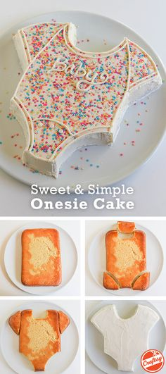 this super cute onsie cake for your baby shower celebration. (easy sweets f., Make this super cute onsie cake for your baby shower celebration. (easy sweets f., Make this super cute onsie cake for your baby shower celebration. (easy sweets f. Baby Cakes, Cupcake Cakes, Diaper Cakes, Party Cupcakes, Cake For Baby, Mom Cake, 3d Cakes, Cupcake Ideas, Baby Shower Pasta